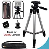 Xtech? Durable Pro Series 60 inch Tripod for GoPro HERO4 Session, HERO4 Hero 4, GoPro Hero3+, GoPro Hero3 Hero 3, GoPro Hero2, GoPro HD Motorsports HERO, GoPro Surf Hero, GoPro Hero Naked, GoPro Hero 960, GoPro Hero HD 1080p, GoPro Hero2 Outdoor Edition Digital Cameras plus Light-weight Convenient Backpack style Carrying Case [並行輸入品]