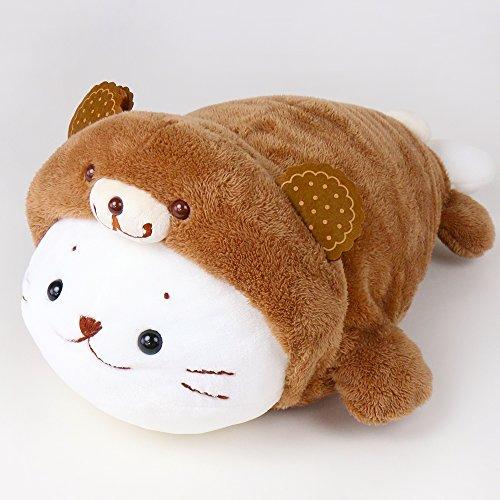 RoomClip商品情報 - しろたん お菓子のくまさんに変身 抱きぐるみ 抱き枕 55cm 茶
