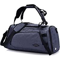 Forestfish 3-Way Travel Duffel Bag Backpack Shoulder Bag Gym Sports Bag with Shoe Compartment for Men Women