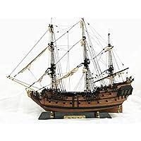 AJACK 帆船模型 32インチ 船アセンブリモデル DIYキット 木製セーリングボート 装飾玩具 DIYギフト