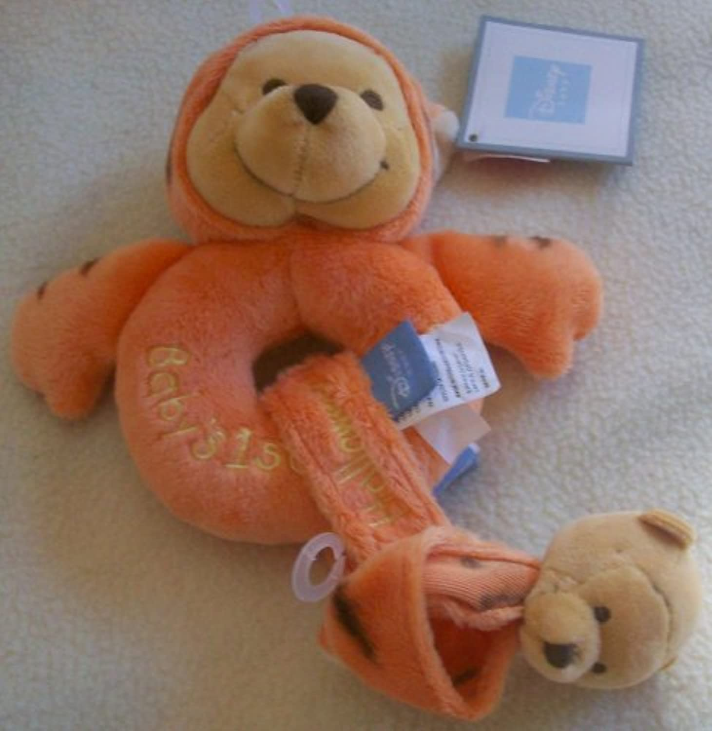 Disney Winnie the Pooh in Tigger Costume Baby Rattle and手首バンドPlush Toy