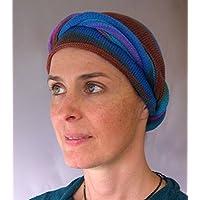 Crystal Earths Tie Dyed Head Wraps Turban Wraps Chemo Hair Scarf Cotton
