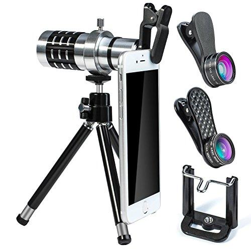 YIEASY 6点セット(12X望遠レンズ 0.63X広角レンズ 15Xマク...