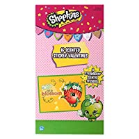 Shopkins Strawberry Scented Valentineステッカー、16のパック( 4643885-lytgt )