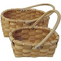 丸和貿易 ウィッカーバスケット キャラメル  S/2 400695900