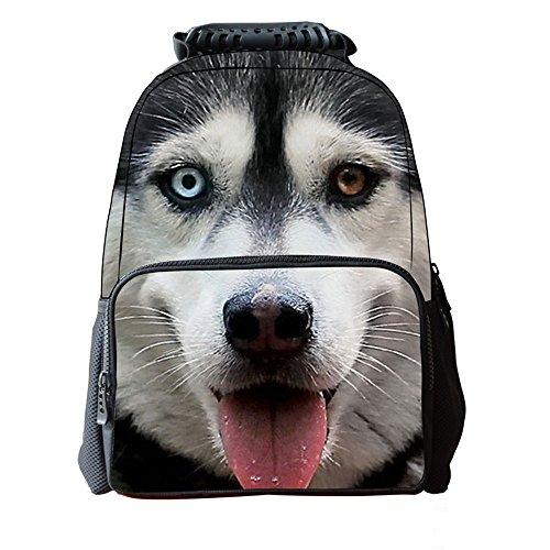 (シーファニー)Cfanny 7 パターン 犬プリンター 3D バッグ 原宿 ファッション アウトドアバッグ カジュアル ハスキー