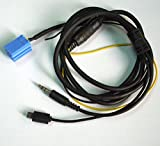 DYYU 車のAUXオーディオチャージャーのケーブルAndroidのマイクロUSBシステムの電話充電サムスンのSONY LGのHTC VWのPassat B5のポロベッカーブラウンのアウディSkoda
