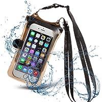 ディカパック(Dicapac) スマホ 防水ケース JIS IPX8規格 100% 完全防水 水に浮く 指紋認証 ネックストラップ クリップ付 iPhone Galaxy Xperia AQUOS 160x84x8.5mmまでの他全機種 ブラック