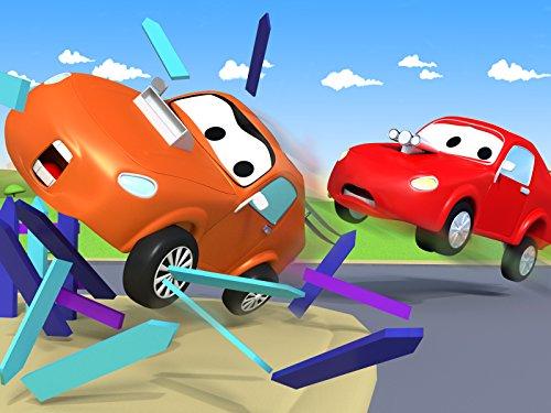 バスのリリーがでこぼこ道で立ち往生&タイラーが公園のベンチに衝突そして, レッカー車のトム, (子供向け)車&トラックの 建設アニメ