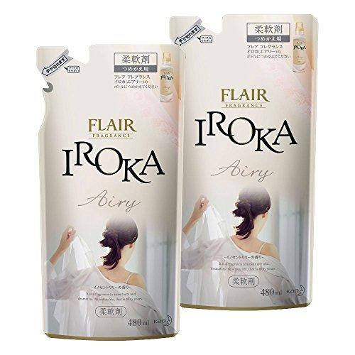 【まとめ買い】フレアフレグランス 柔軟剤 IROKA(イロカ) Airy(エアリー) 詰替用 480ml×2個