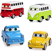 Diecast Car Toys 4ピースAssorted Pull Back and Go Cars PlayセットToy VehiclesパーティーFavors for Kids and Toddlers