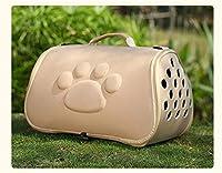 WASAIO 交通ショルダーバッグを運ぶEVAペットキャリアバッグケージハンドバッグポータブル屋外猫折り畳み式の犬トラベルペットバッグ子犬 (Color : Yellow, Size : L)