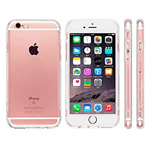 Highend berry iPhone6s ケース / iPhone6 ケース 4.7インチ 落下防止 用 ストラップ ホール 付き 保護キャップ 一体型 ソフト TPU ケース ストラップ 付き クリア