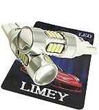 (ライミー)LIMEY 新型登場! T10 T16 LED ホワイト 13.2W ハイパワーCREE製チップ+最新4014SMD プロジェクターレンズ搭載 ポジション バックランプ 白 6500K 12-24V対応 2個セット 【取扱説明書&保証書付き】 L-T16W3535CR13W