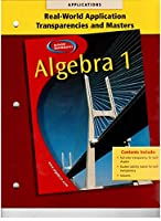 Algebra 1 Real World Applications Transparencies and Masters