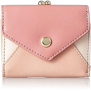 [レガート ラルゴ] 折り財布 3色PU 3ツ折がま口ミニ財布 LU-M0761 PI ピンク