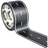 PlayTape Black Road 60x2 - Car Tape Great for Kids, Sticker Roll for Cars Track and Train Sets, Stick to Floors and Walls, Qu