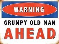 Grumpy Old Man Ahead ティンサイン ポスター ン サイン プレート ブリキ看板 ホーム バーために