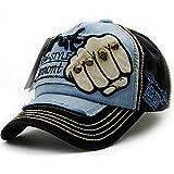baby-mine(ベイビーマイン) 鉄拳 パンチ キャップ 野球帽 帽子 ベースボールキャップ ダメージ 男女兼用