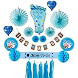 Baby Shower Decorations - Set Includes It's a Boy! Banner Balloons Paper Fans Honeycomb Paper Balls and Paper Tassels. [並行輸入品]
