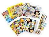 (ディズニ)Disney ディズニー BIG ポーチ 付き 文具 セット TM ツムツム 4種 各1 計4セット 入り