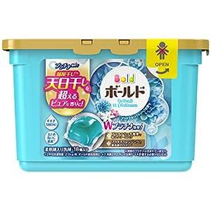 ボールド 洗濯洗剤 ジェルボール Wプラチナ プラチナホワイトリーフの香り 本体 352g(18個入)