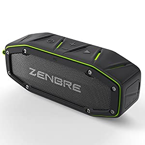 Bluetoothスピーカー、ZENBRE D6 アウトドアBluetooth4.1 スピーカー,2x5Wウーファーと増強リゾネーター, マイク搭載, USB充電ポート, ポーターブルIPX6 防水スピーカー (グリーン)