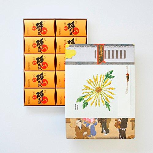 お菓子の香梅 特製誉の陣太鼓20個入 スイーツ 807g 肥後六花オリジナルのし紙 【肥後菊】