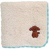 無撚糸パイルのハンドタオル かわいいワンちゃん刺繍付き (トイプードル)