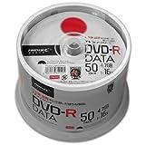 【TYコードシリーズ】HI-DISC データ用DVD-R 4.7GB 16倍速対応 ワイドプリンタブル白 50枚スピンドルケース×6個 TYDR47JNP50SPMG【300枚セット】
