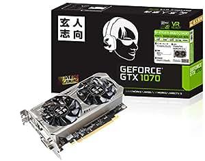 玄人志向 ビデオカードGEFORCE GTX 1070搭載 GF-GTX1070-E8GB/OC/SHORT