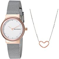 Skagen Women's Quartz Watch analog Display and Stainless Steel Strap SKW1101