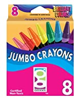 Geddes 8ct Jumbo Crayons (Pack of 12)