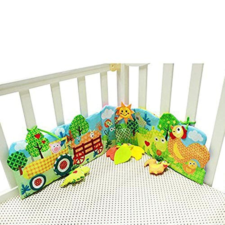Hosimベビーベッド布本動物パズル玩具、Unfoldingアクティビティブック教育開発for Kids – 新生児Rattleベビーベッドベッドギャラリーバンパーパッド10個とさまざまなパターン