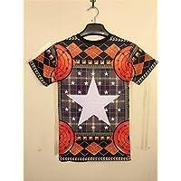 Women Men Unisex 3D Print Galaxy Animal hipster Tee Shirt(Pentagram)