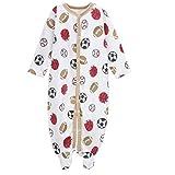 エルフ ベビー(Fairy Baby)足つきロンパース ベビー服 つなぎ カバーオール 長袖 7-9M 球柄 ベージュの縁