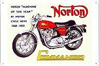 ノートンコマンドー1968-1972オートバイの金属看板 ティンサイン ポスター / Tin Sign Metal Poster of Norton Commando 1968-1972 Motorcycles