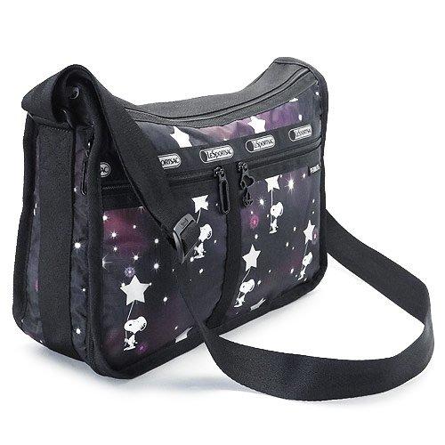 (レスポートサック) LeSportsac ショルダーバッグ 7507 G083 ななめがけバッグ DELUXE EVERYDAY BAG ポーチ付 ポリエステル SNOOPY IN THE STARS [並行輸入品]