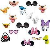 ミッキーマウス?クラブハウスとミニーマウスのフォトプロップス 16点セット 写真小道具