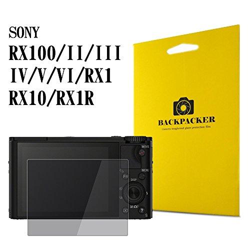 【BACKPACKER】 SONY RX100 V / RX100 IV / RX100 III / RX100 II / RX100 / RX1 / RX10 / RX1R 用 カメラ液晶保護ガラス 液晶プロテクター 0.33mm強化ガラス 9H硬度 高鮮明
