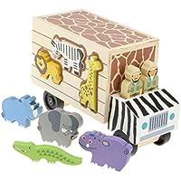 P Prettyia 赤ちゃん 幼児 おもちゃ 動物ビルディングブロック 形合わせ 木製玩具