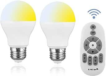 SenMeiGuang LED電球6W調光および色変更電球は、60Wタイプ3000K-6500Kのリモコンと互換性がありますAC100-240V調光可能および色調整可能なナイトライト電球、タイマー機能付きデイライトホワイトE26ベース2.4Gリモコン、天井と互換性ありリモコン付きシャンデリア/フロアランプ/テーブルランプ(2個)」と競合するため使用することはできません
