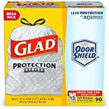 Glad OdorShield Tall Kitchen Drawstring Trash Bags - Unscented - 13 Gallon - 90 Count