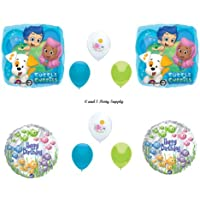 Bubble Guppies 10 PIECE BirthdayパーティーBalloons Decorations Supplies新しい。By Anagram