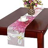 GGSXD テーブルランナー 美しい ダリア クロス 食卓カバー 麻綿製 欧米 おしゃれ 16 Inch X 72 Inch (40cm X 182cm) キッチン ダイニング ホーム デコレーション モダン リビング 洗える