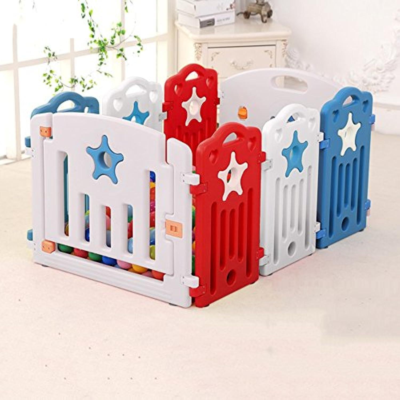 小さな赤ちゃんのプレイペンターマルチカラーアクティビティセンターアウトドアハウスホーム屋内の子供の安全プレイヤード8パネル