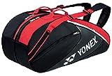 ヨネックス(YONEX) テニス ラケットバッグ6(リュック付き・テニスラケット6本用) BAG1732R ブラック×レッド(187)