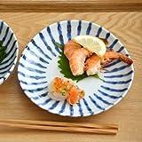 テーブルウェアイースト 染付け ダミ十草 三角5寸皿 (アウトレット込み) 5枚セット 中皿 取り皿 和食器