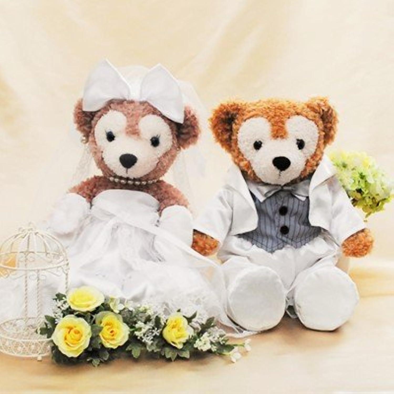 【当店だけの7大特典付き!】ダッフィー ウェディング ペアセット コスチューム 選べるタキシード 結婚式 (ホワイト)