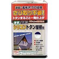 ニッペ 油性塗料 高耐久シリコントタン屋根用なす紺 14kg